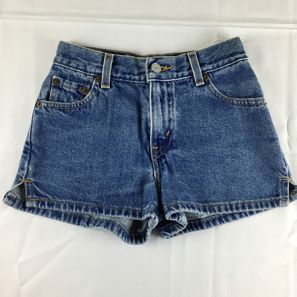 ee598637b9 Levi's Bottoms | Vintage Girls Levis Denim Blue Jean Shorts | Poshmark
